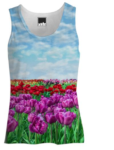 Tulip Field Women s Tank Top