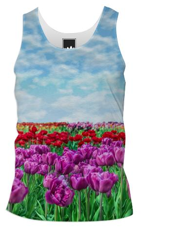 Tulip Field Men s Tank Top