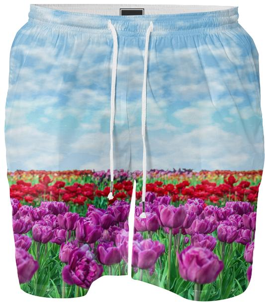 Tulip Field Swim Shorts