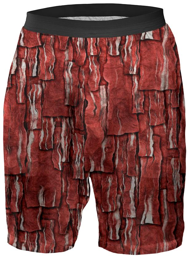 Got Meat Overlapping bacon pieces Boxer Shorts