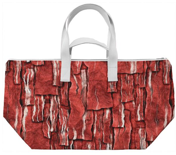 Got Meat Overlapping bacon pieces Weekend Bag