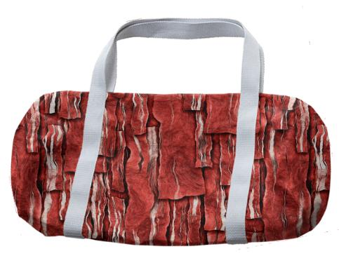 Got Meat Overlapping bacon pieces Duffle Bag