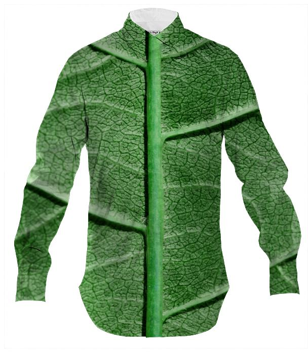 Veined Green Leaf Men s Shirt