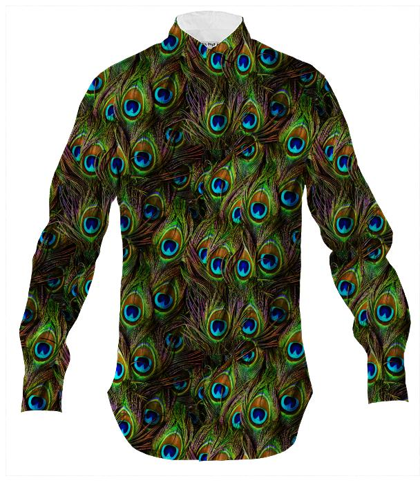 Peacock Feathers Invasion Men s Shirt