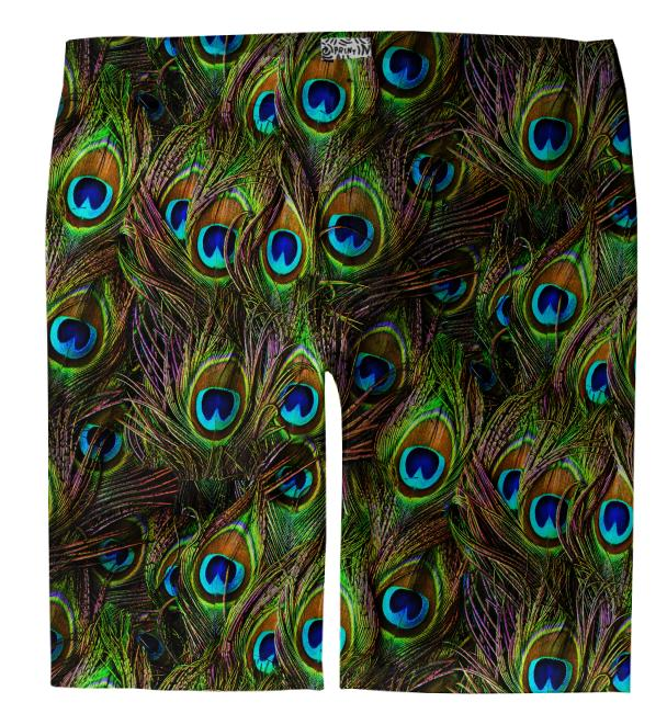 Peacock Feathers Invasion Trouser Shorts