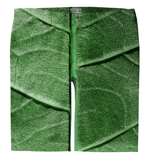 Veined Green Leaf Trouser Shorts