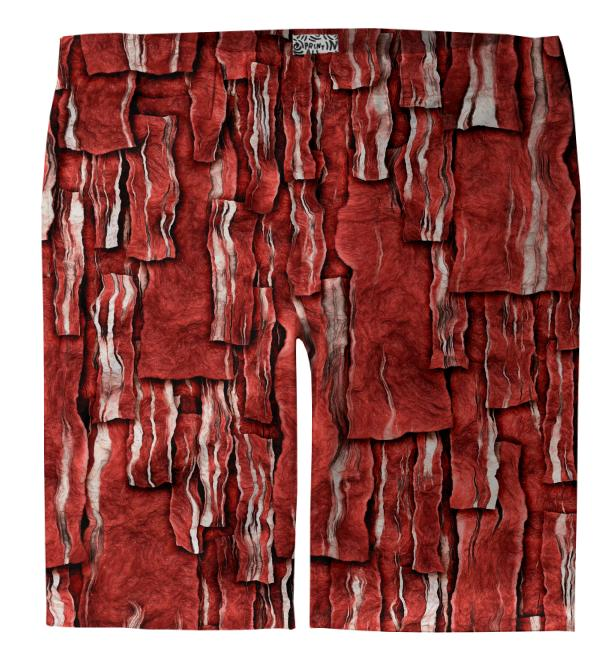 Got Meat Overlapping bacon pieces Trouser Shorts