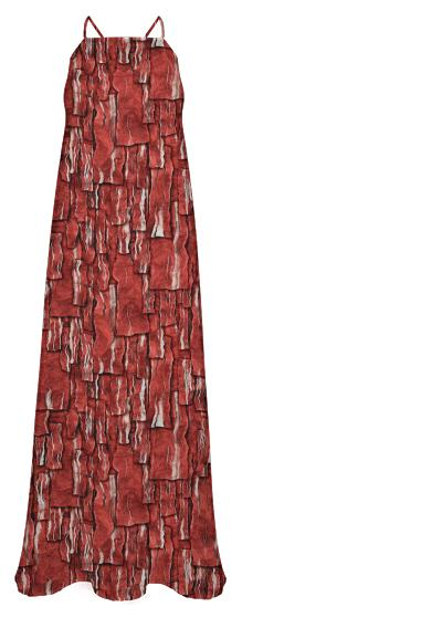 Got Meat Overlapping bacon pieces Chiffon Maxi Dress