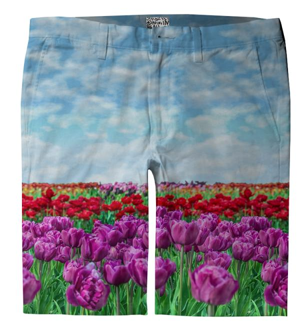 Tulip Field Trouser Shorts