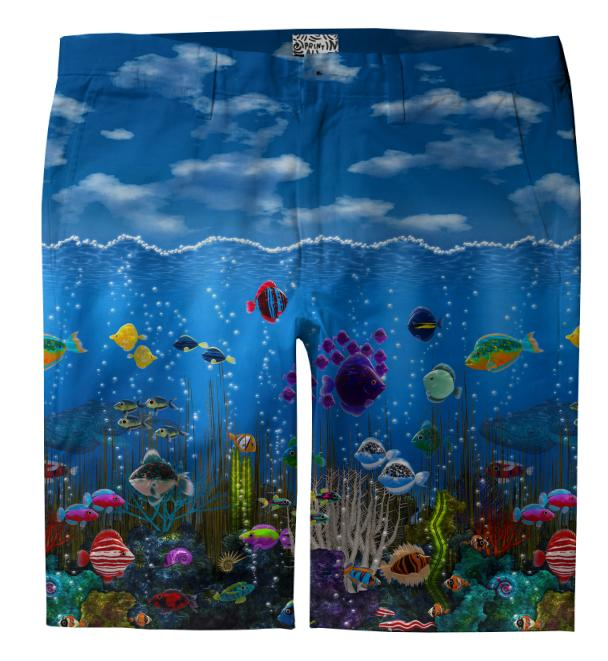 Underwater Love Trouser Shorts