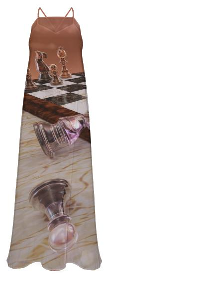 A Game of Chess Chiffon Maxi Dress