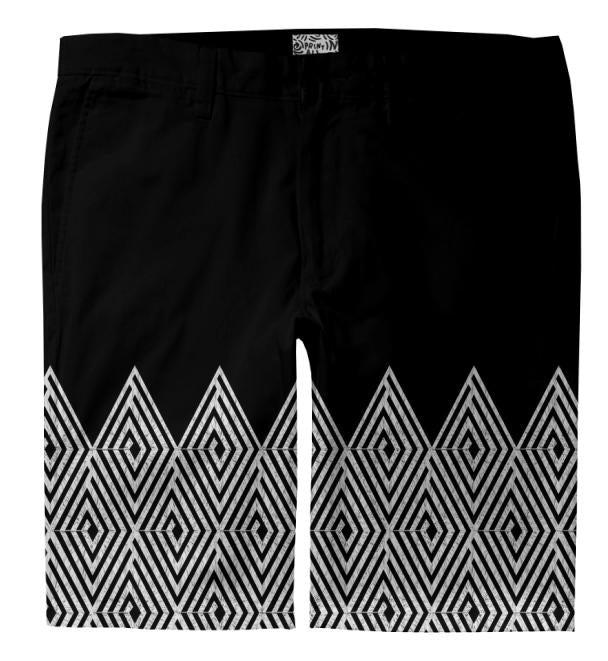 Zigzag Tribal pattern Trouser Shorts