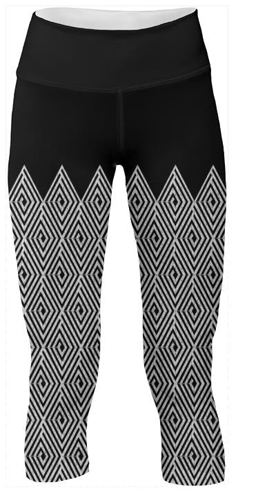 Zigzag Tribal pattern Yoga Pants