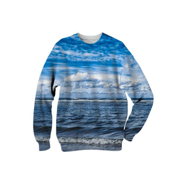 Cloudy day on the beach Sweatshirt