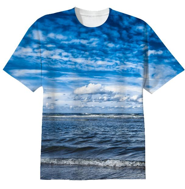 Cloudy day on the beach T shirt