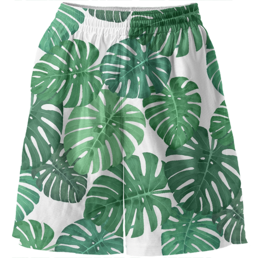 Monstera Jungle Basketball Shorts by Frank-Joseph
