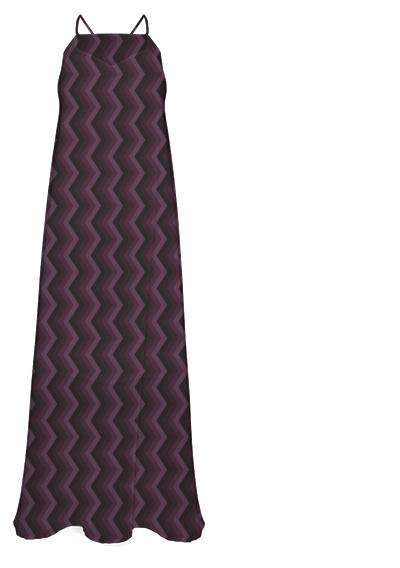 Mauve ZigZag Dress