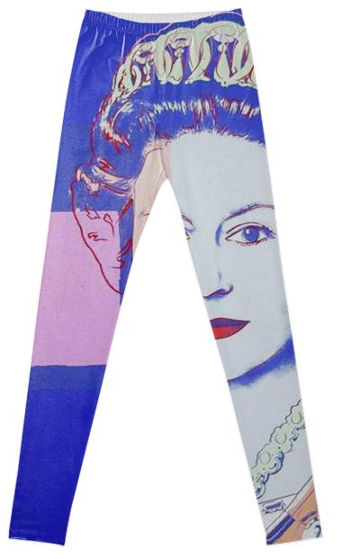 Queen Elizabeth Pop Art Andy Warhol Fancy Leggings