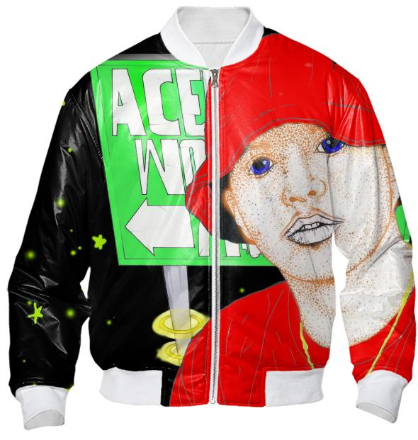 Ace Lover World Pop art Bomber jacket