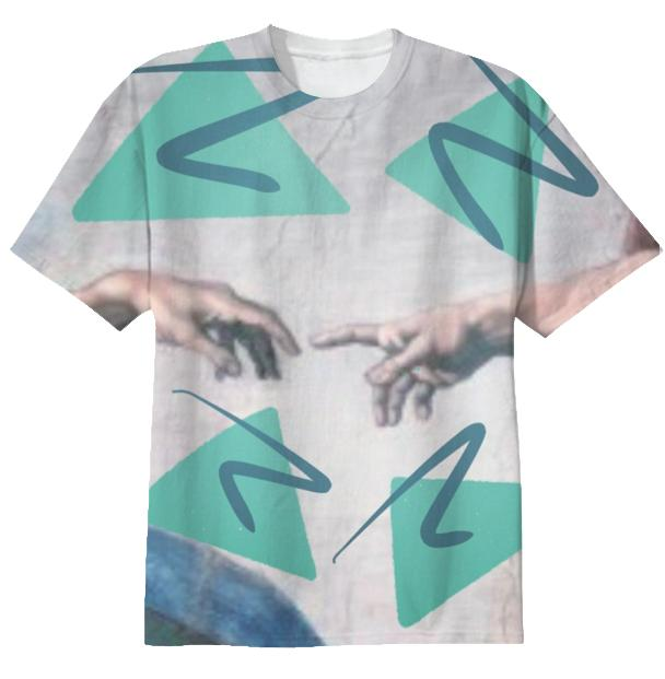 creation of geometry t shirt