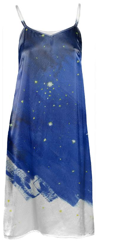 Starry silk dress