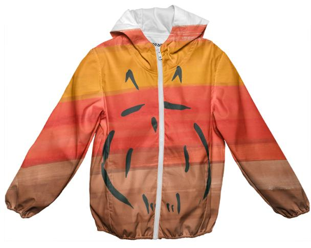 Owl rain jacket for kids