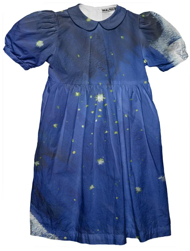 starry kids dress