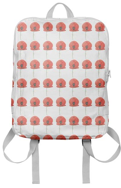 Poppy pattern backpack