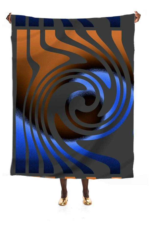 Blue orange Swirl