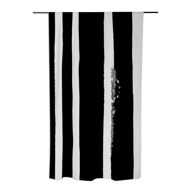 viv Black Stripes Silver
