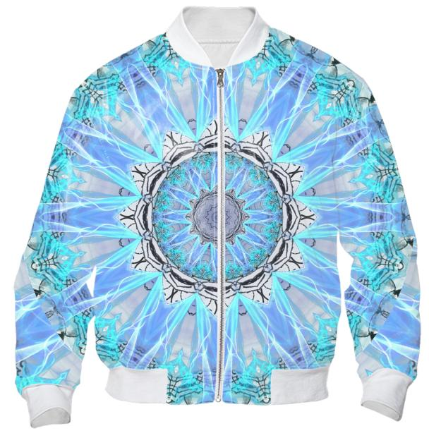 Sapphire Ice Flame Light Bright Crystal Wheel