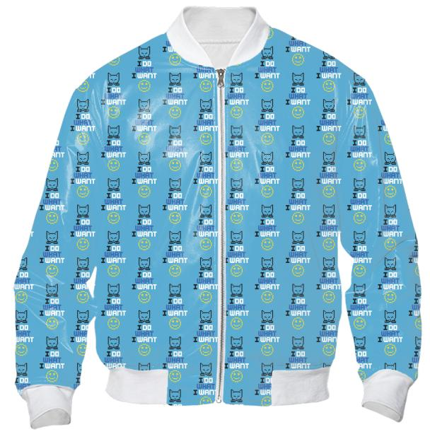 FINAL Diane Warren I DO WHAT I WANT pixel cat smiley Bomber Jacket