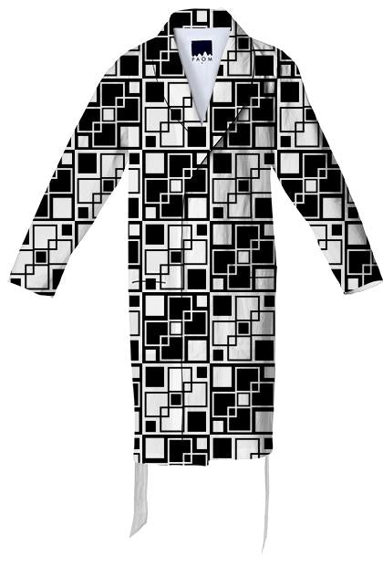 Black and white mod geometrical pattern