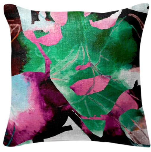 Lino Sketchy Abstract Pillow
