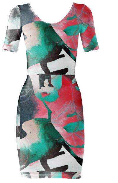 Brit Line 2 BodyCon Dress