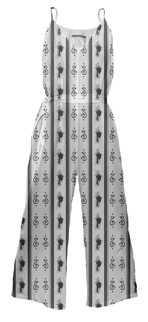 Summer s Phantom Pattern Jumpsuit with Sash