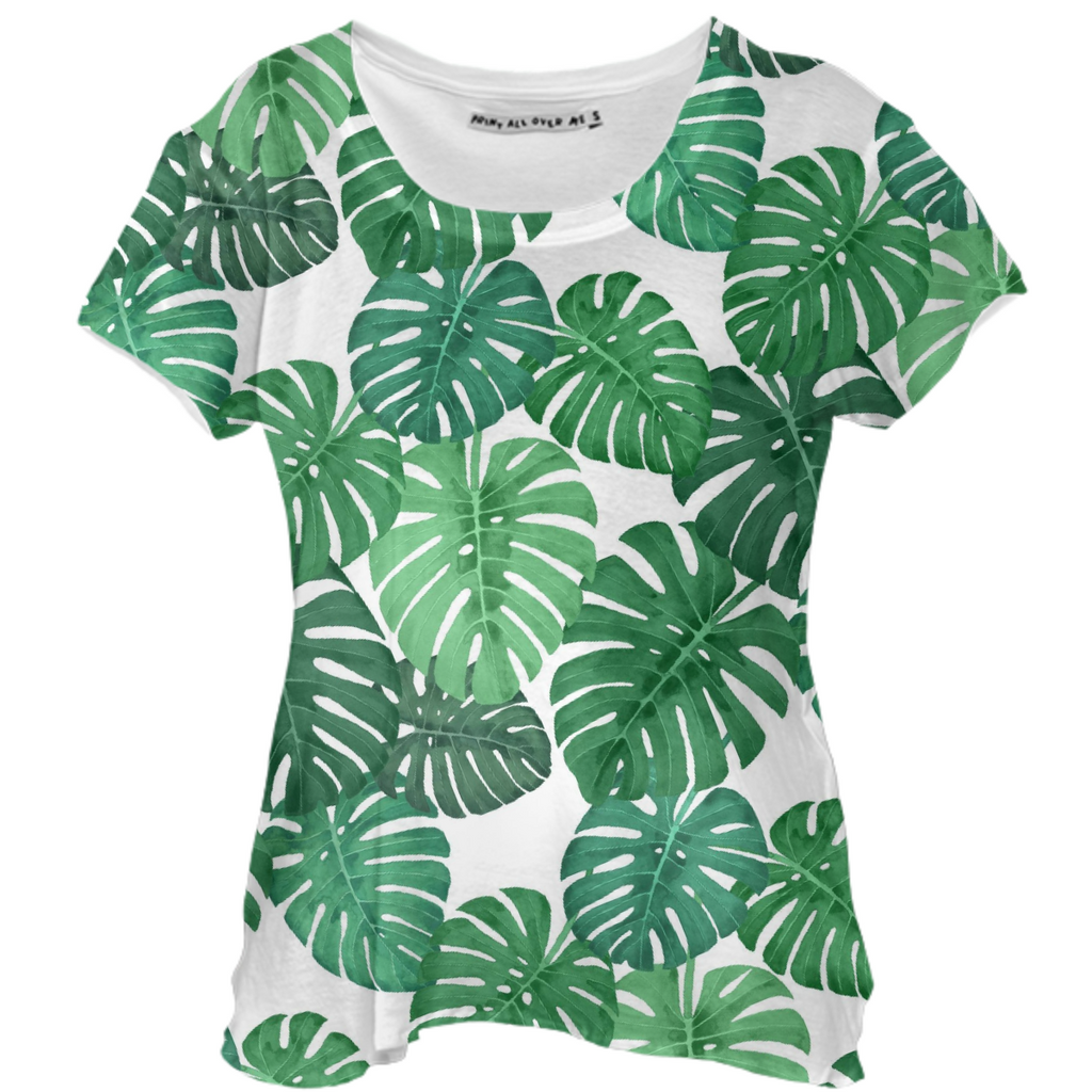 Monstera Jungle Drape Shirt by Frank-Joseph