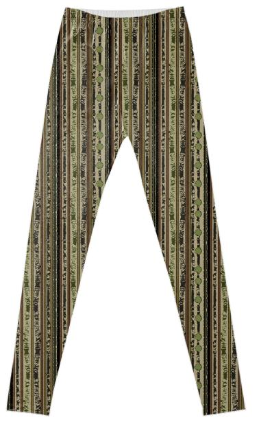 Tribal Stripe Fancy Leggings