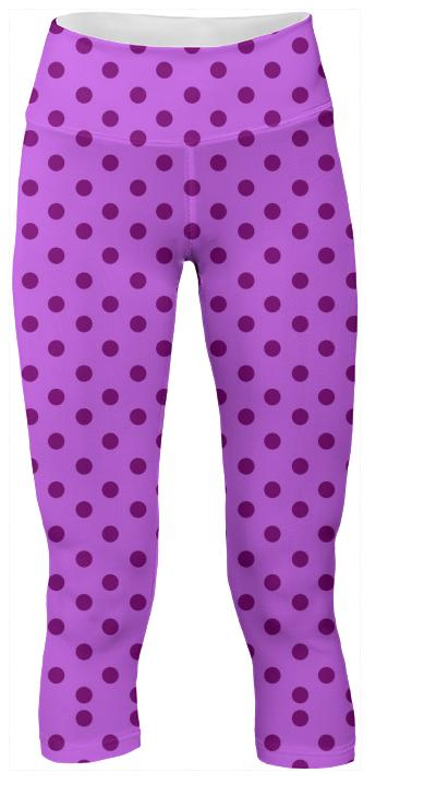 Purple Polka Dot Yoga Pants