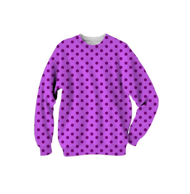 Purple Polka Dot Sweatshirt