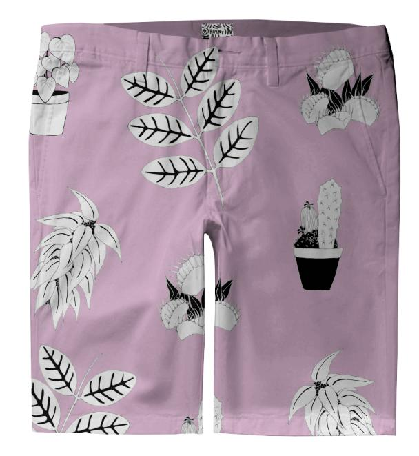Prickly in Pink Trouser Shorts