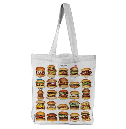 PAOM, Print All Over Me, digital print, design, fashion, style, collaboration, nymag, Tote Bag, Tote-Bag, ToteBag, New, York, Burgers, autumn winter spring summer, unisex, Poly, Bags