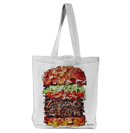 PAOM, Print All Over Me, digital print, design, fashion, style, collaboration, nymag, Tote Bag, Tote-Bag, ToteBag, Deconstructed, Burger, autumn winter spring summer, unisex, Poly, Bags