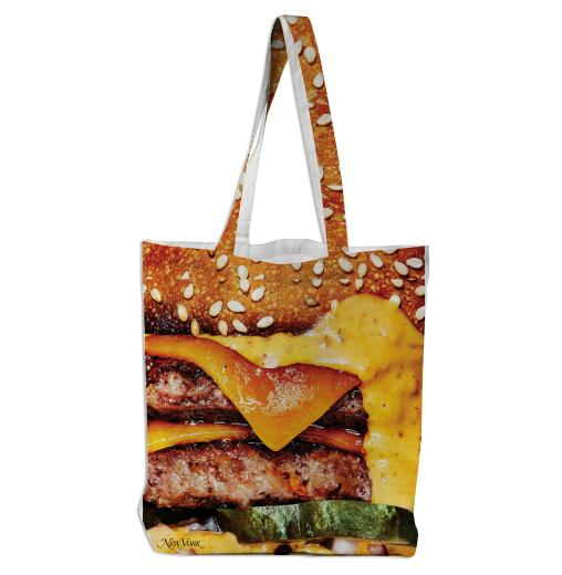 PAOM, Print All Over Me, digital print, design, fashion, style, collaboration, nymag, Tote Bag, Tote-Bag, ToteBag, Big, Burger, autumn winter spring summer, unisex, Poly, Bags