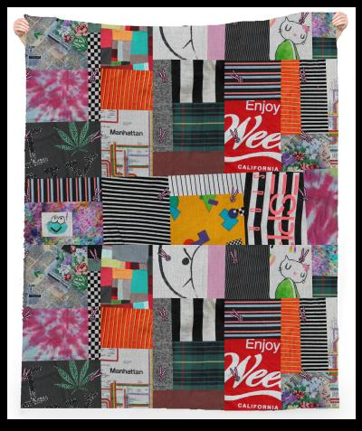 PAOM, Print All Over Me, digital print, design, fashion, style, collaboration, annie-larson, annie larson, Linen Beach Throw, Linen-Beach-Throw, LinenBeachThrow, Crazy, Quilt, Towel, spring summer, unisex, Linen, Home