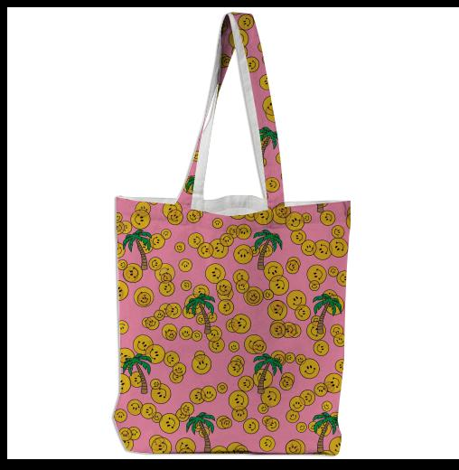 PAOM, Print All Over Me, digital print, design, fashion, style, collaboration, annie-larson, annie larson, Tote Bag, Tote-Bag, ToteBag, Smiley, autumn winter spring summer, unisex, Poly, Bags