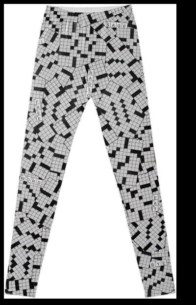 PAOM, Print All Over Me, digital print, design, fashion, style, collaboration, annie-larson, annie larson, Leggings, Leggings, Leggings, Crossword, autumn winter spring summer, unisex, Spandex, Bottoms
