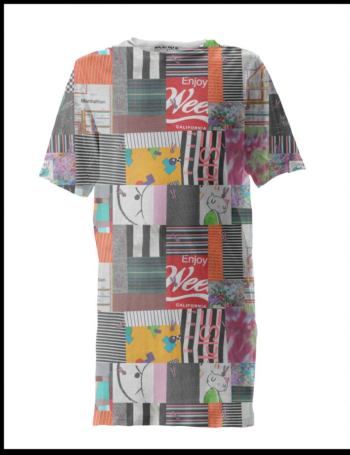 PAOM, Print All Over Me, digital print, design, fashion, style, collaboration, annie-larson, annie larson, Tall Tee, Tall-Tee, TallTee, Crazy, Quilt, autumn winter spring summer, unisex, Poly, Tops