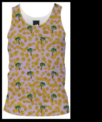 PAOM, Print All Over Me, digital print, design, fashion, style, collaboration, annie-larson, annie larson, Tank Top Men, Tank-Top-Men, TankTopMen, Smiley, spring summer, mens, Poly, Tops