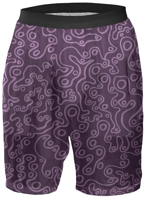 Purple Bubble Boxer Shorts